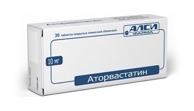 Аторвастатин форма Выпуска таблетки