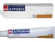 Ауробин мазь 20 г цена 360 руб в Москве, купить Ауробин мазь 20 г инструкция по применению, отзывы в интернет аптеке
