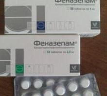 Феназепам дозировка в таблетках
